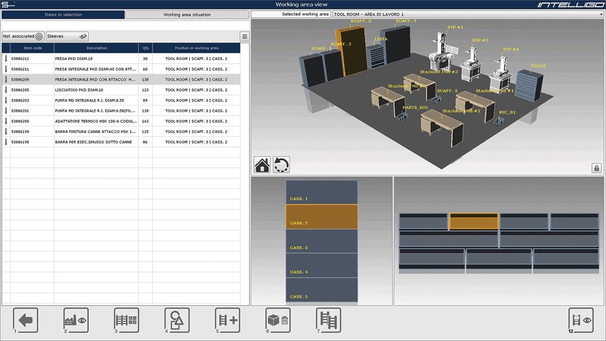 Tool room layout.