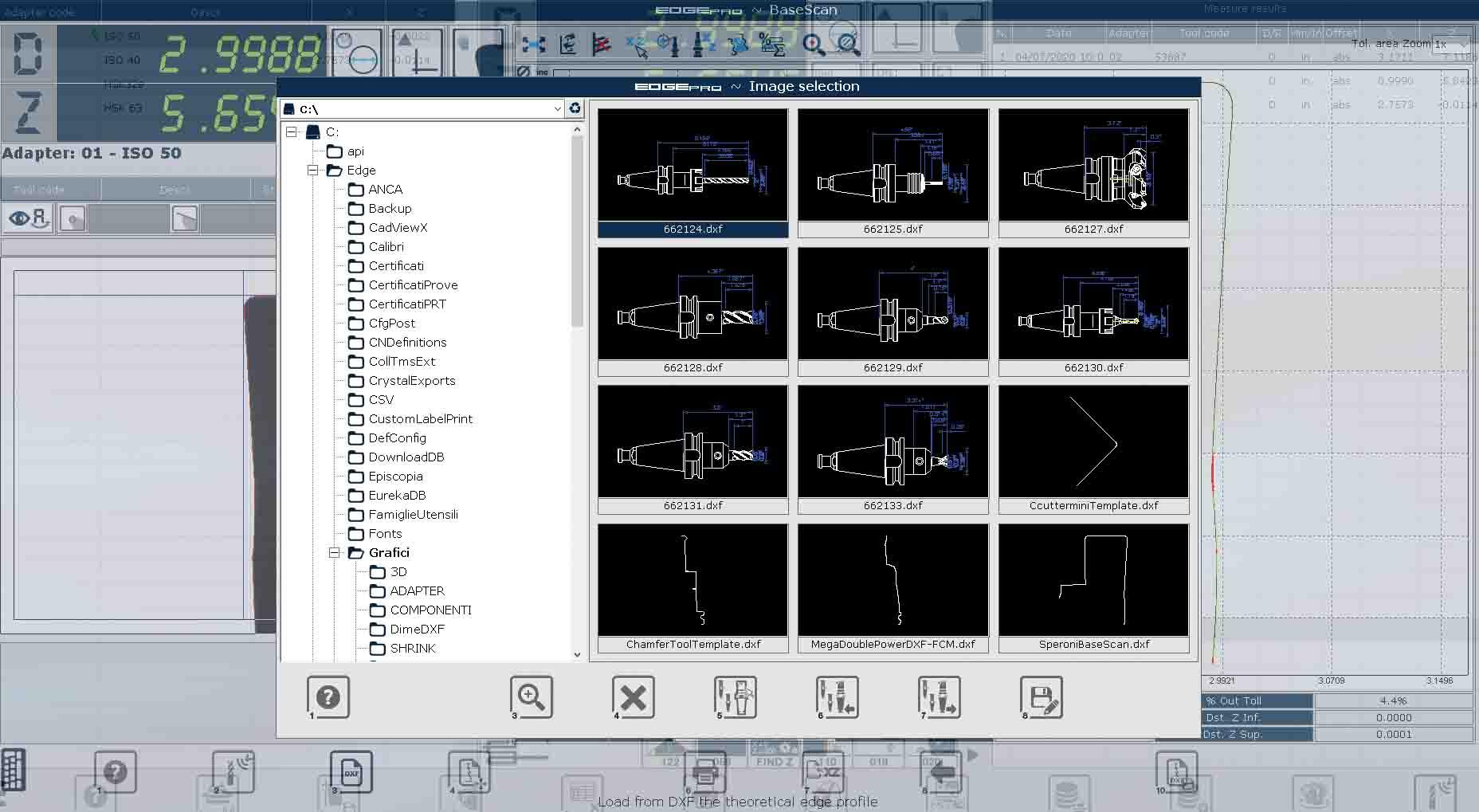 Edge Pro Base Scan screen capture.