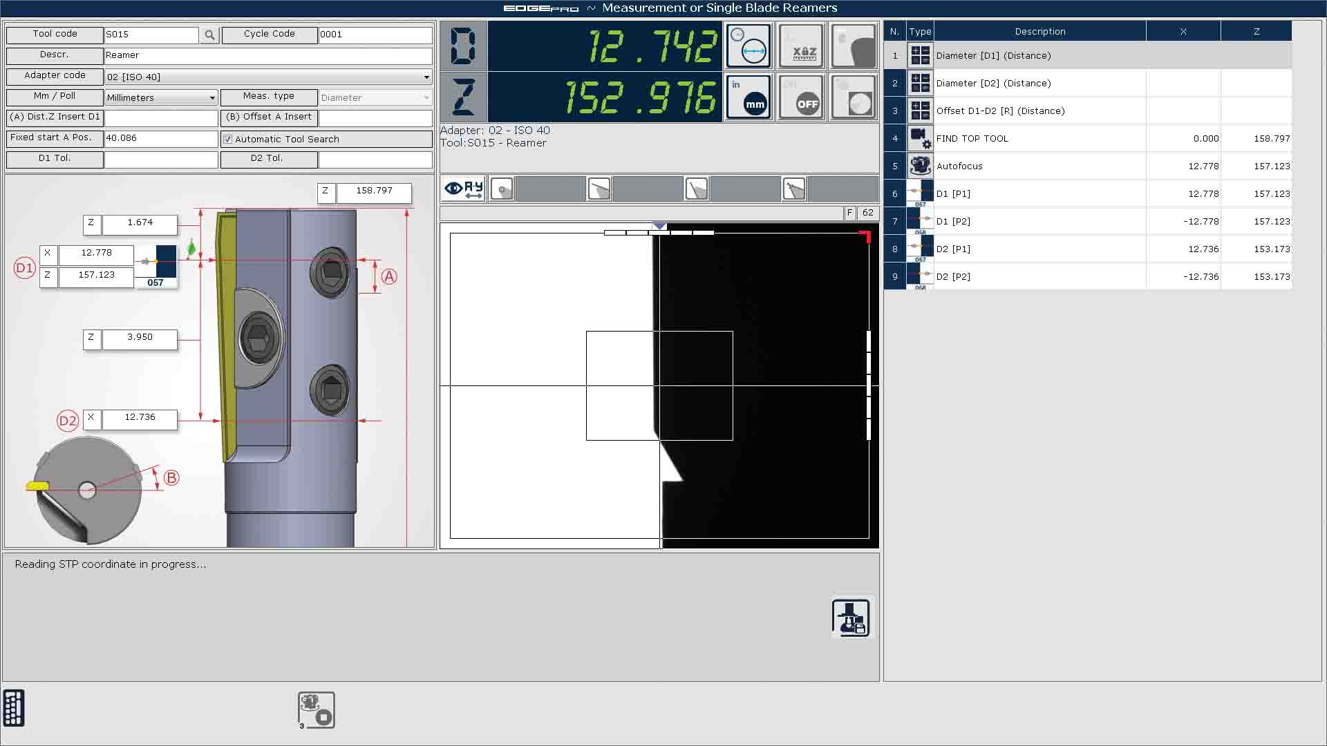 Edge Pro Reamers screen capture.