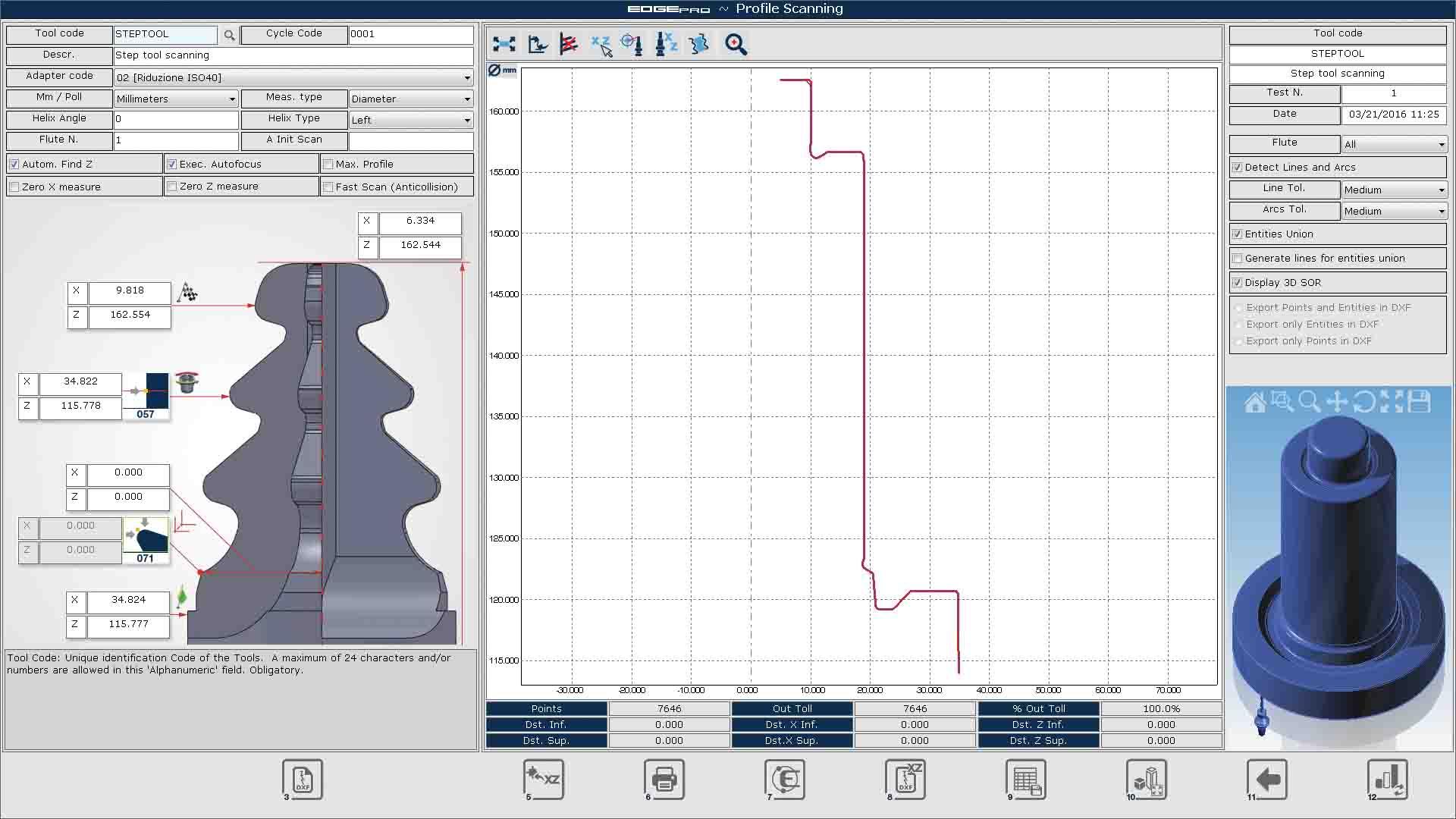 Edge Pro Scanning Function screen capture.