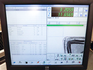 Simultaneous insert inspection and verification of tool diameter
