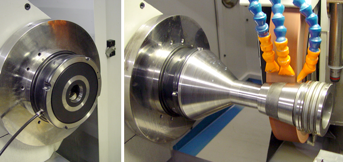 With Unilock, the part can stay with its fixture, go from the milling machine to turning to grinding