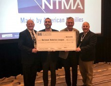 Mark Lashinske, NTMA Chairman of the Board, Doug DeRose, NTMA Vice President; Chris Kaiser, President / CEO of BIG KAISER and Bill Padnos, Workforce Development Manager